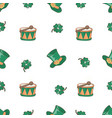 patricks bowler saint patrick day cartoon seamless vector image