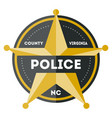 policeman sign with golden star icon vector image vector image