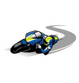 racer ride sportbike vector image vector image