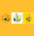 realistic oil product design concept vector image