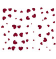 red hearts vector image vector image