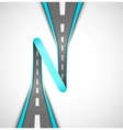 Road loop vector image vector image