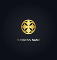 Round abstract geomery gold logo