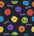 seamless pattern ancient mexican mythology symbol vector image