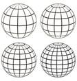 set 3d ball globe model earth sphere vector image vector image