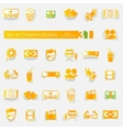 Set of cinema stickers vector image