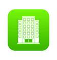 skyscraper icon digital green vector image vector image