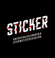 sticker style font design vector image