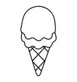 strawberry ice cream icon outline line style vector image vector image