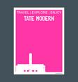 tate modern london united kingdom monument vector image vector image