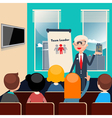 Team Leader Business Presentation Business Meeting vector image