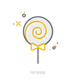 Thin line icons Lolipop vector image vector image