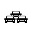 traffic jam icon symbol and sign isolated on vector image vector image