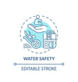 water safety turquoise concept icon vector image
