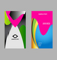 wave business card vector image vector image
