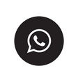 whatsapp icon vector image vector image