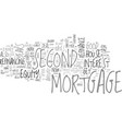 when should you refinance a second mortgage text vector image vector image