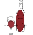Wine and glass vector image vector image