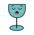 wine drink kawaii style vector image vector image