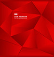 abstract red geometric polygonal background for vector image