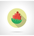 Red pine cone round flat color icon vector image