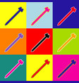 screw sign pop-art style vector image