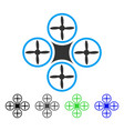 air drone flat icon vector image vector image