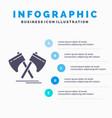 axe hatchet tool cutter viking infographics vector image vector image