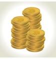 Bitcoin coins vector image vector image