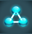 bright molecule structure template vector image