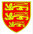 british three lions shield vector image vector image
