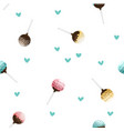 cake pops seamless pattern vector image vector image