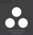 circle diagram premium icon white on dark backgrou vector image
