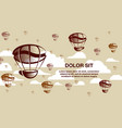 coffee balloons in the sky vector image