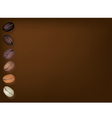 Coffee Beans Row Background vector image vector image