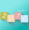 Colorful New Year 2016 greeting card vector image vector image