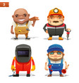construction professions set-1 vector image vector image