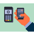 Contactless payment vector image