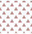 dangerous turn left pattern seamless vector image vector image