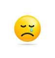 emoji smile icon symbol crying face yellow vector image vector image