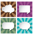 Empty speech bubbles paper on Sun burst retro vector image