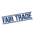 fair trade stamp vector image vector image