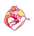 Fireman Firefighter Emergency Worker vector image vector image