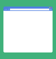flat blank browser window vector image