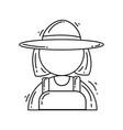 gardening gardener icon hand drawn icon set vector image vector image
