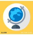 Globe flat color icon vector image vector image