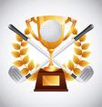 golf club emblem vector image vector image
