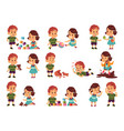 good and bad children kids playing peacefully vector image