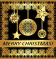 greeting card merry christmas vector image vector image