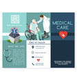 hospital trifold brochure medical clinic template vector image vector image